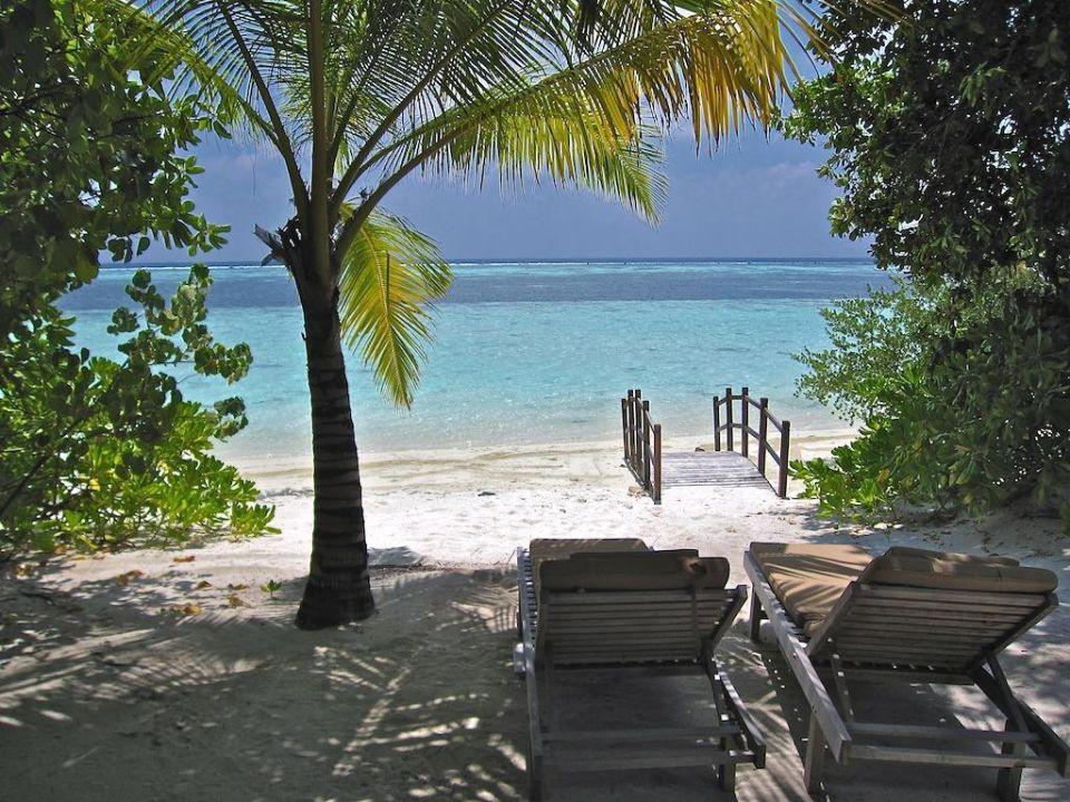 Blick von der Terrasse LUX South Ari Atoll