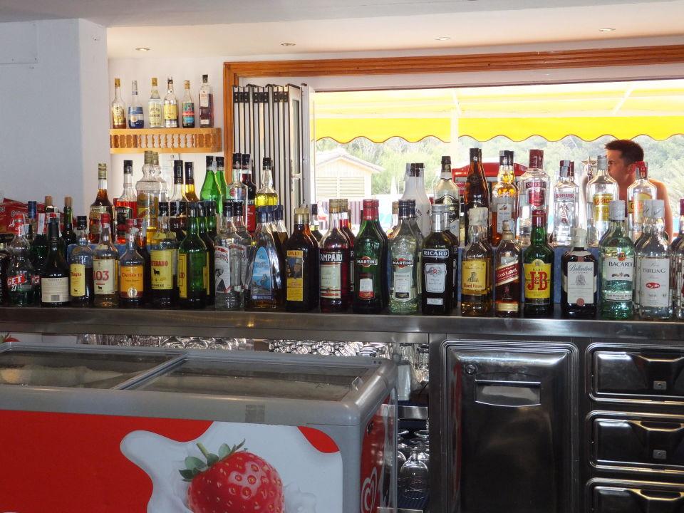 Auswahl der alkoholischen Getränke\