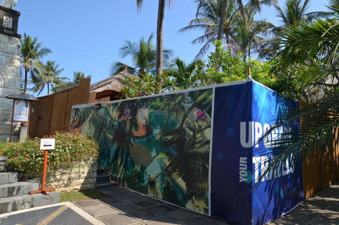 Sichtschutz Zur Pool Baustelle Bali Mandira Beach Resort U0026 Spa