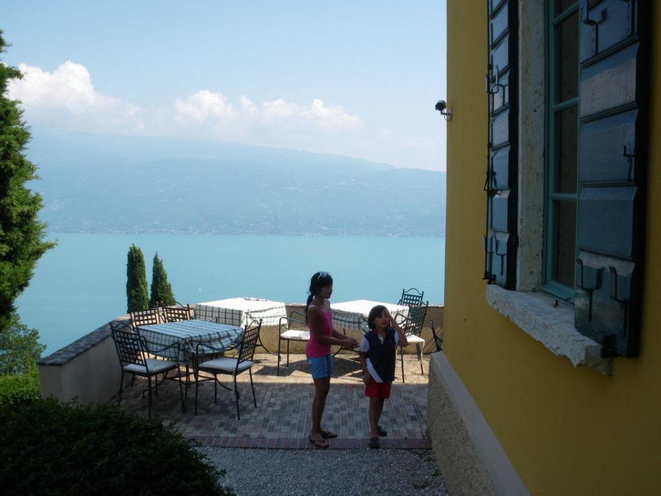Terrace near villa Boutique Hotel Villa Sostaga