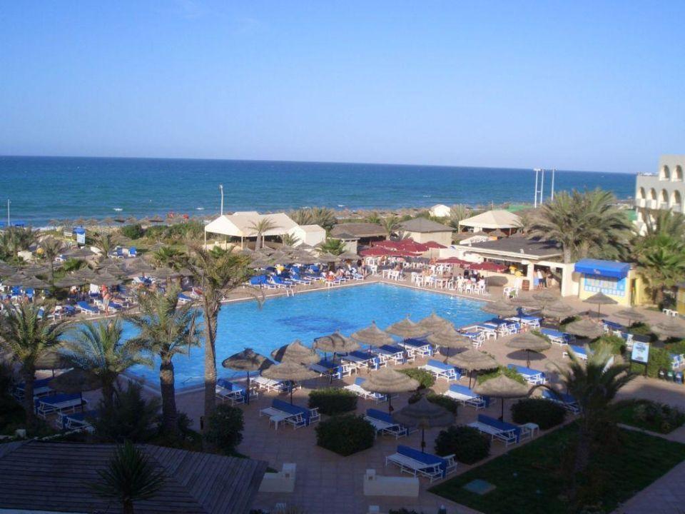 Blick aus dem Fenster Club Marmara Djerba Mare