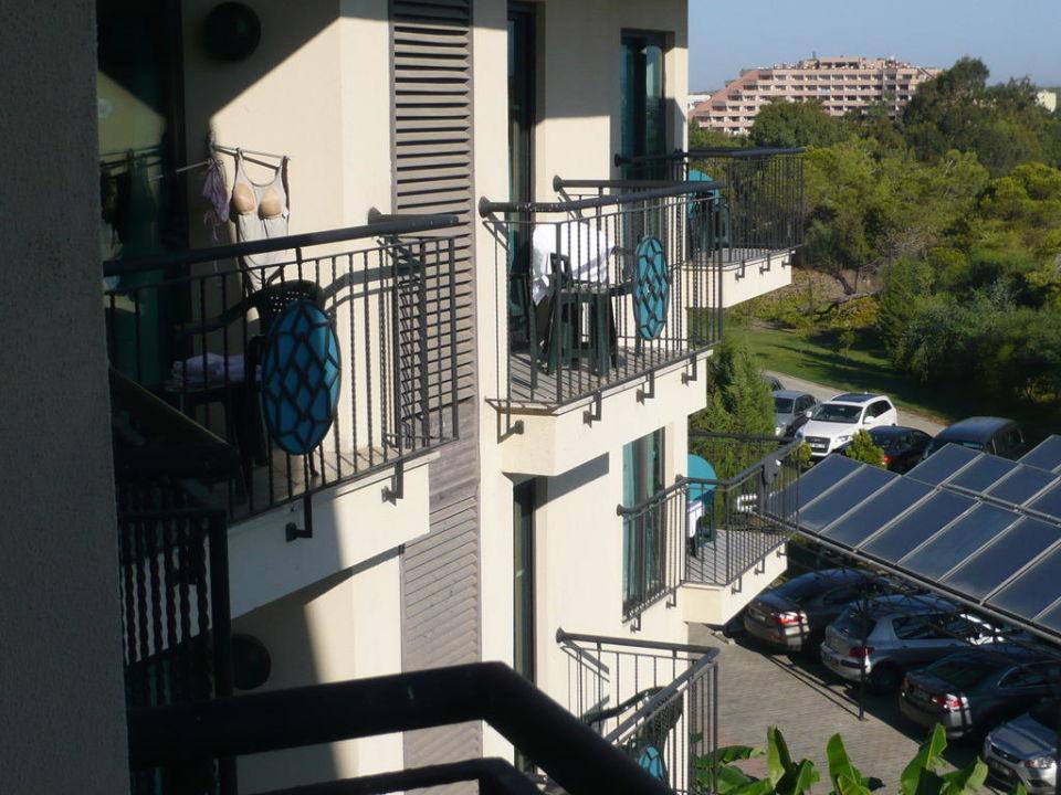 Aussicht Landseite links Nashira Resort Hotel & AQUA-SPA