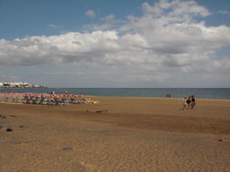 Strand Hinter Dem Hotel Hotel Riu Paraiso Lanzarote Resort Puerto