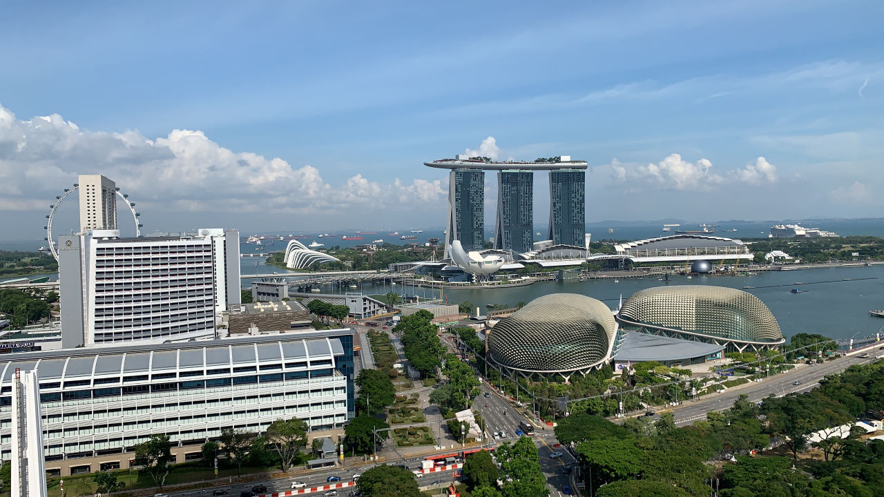 Ausblick Swissotel The Stamford Singapore