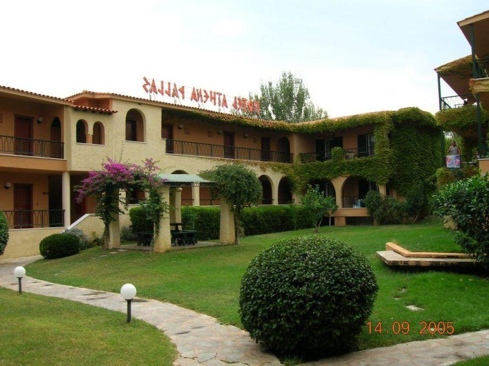 Hotel Innenhof Acrotel Athena Pallas Village