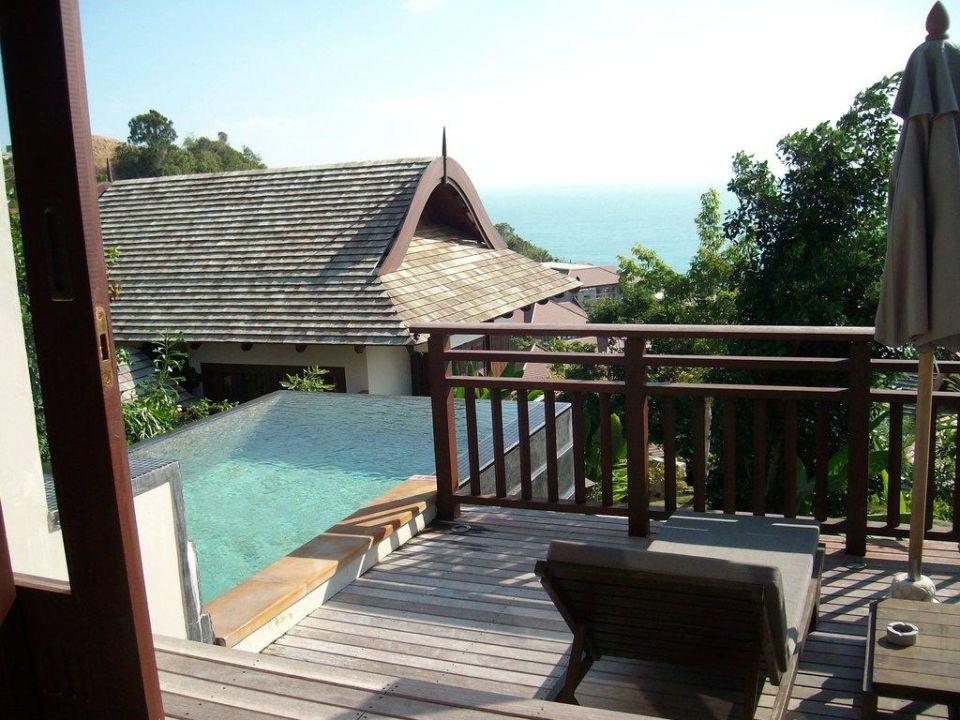 Ausblick von der Terrasse Bhundhari Koh Samui