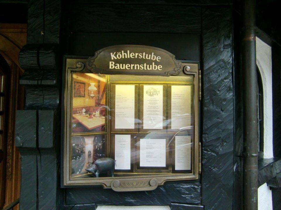 Schaukasten Köhlerstube Hotel Traube Tonbach