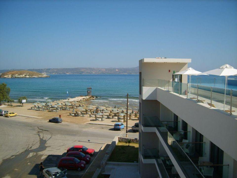 Widok z dachu hotelu Almyrida Residence Boutique