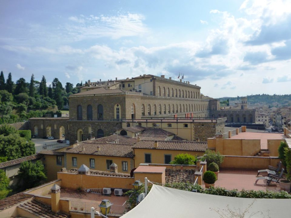 View from Terrace to Palazzo Pitti Hotel La Scaletta