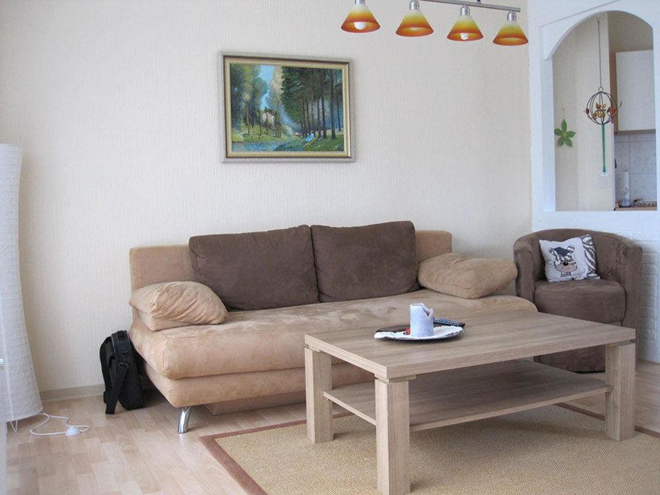 Sitzecke Im Wohnzimmer Ferienwohnungen Haus Am Leuchtturm
