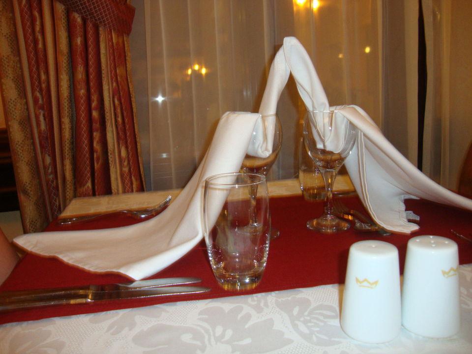 Tischdeko Beim Abendessen Hotel Riu Palace Riviera Maya Playa Del