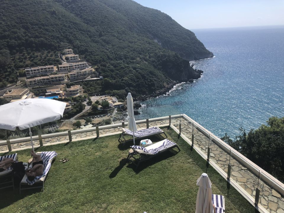 Ausblick Atlantica Grand Mediterraneo Resort & Spa