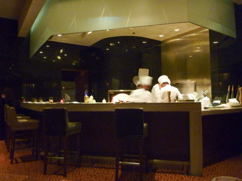 Offene Küche im Restaurant Frankie\'s\