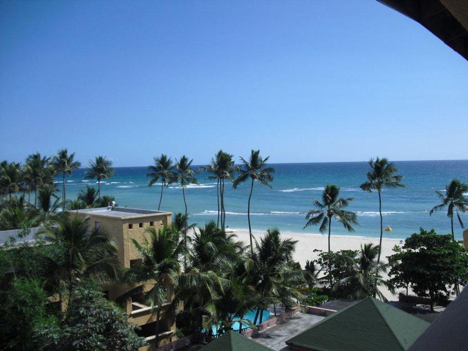 Blick vom 6. Stock Hotel Coral Costa Caribe