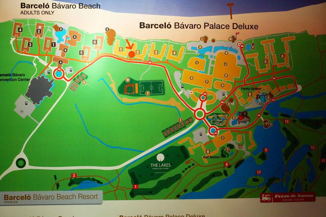 Hotel Karte Barceló Bávaro Palace