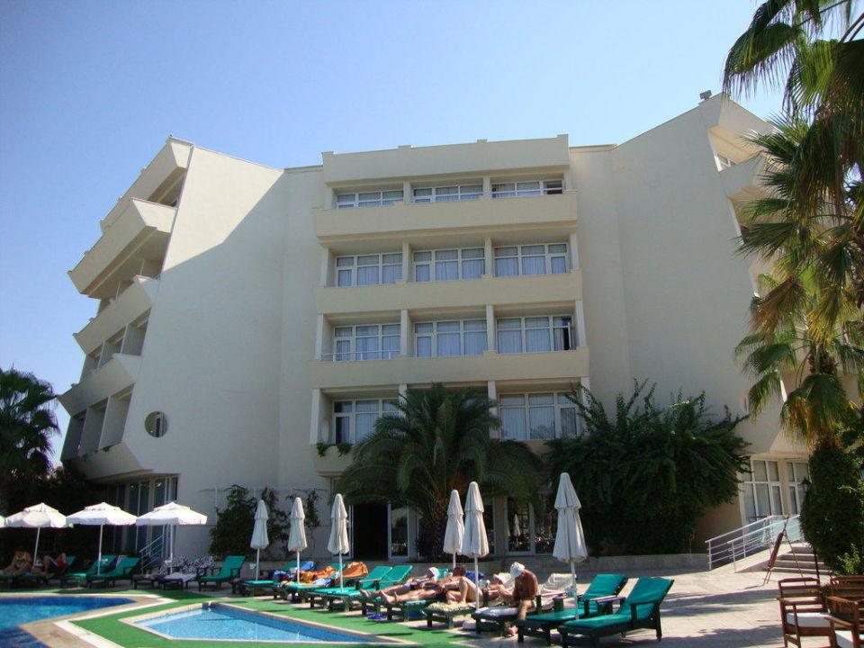 Blick vom Pool zum Hotel Hotel Nerton