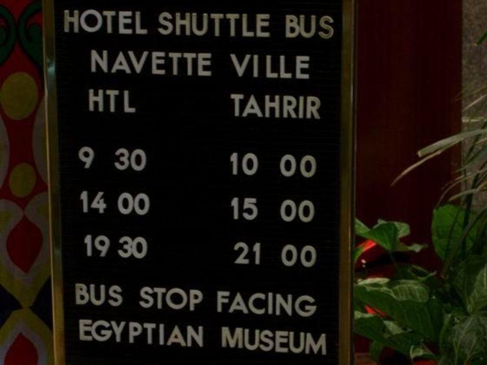 Fahrplan des Shuttle Bus im Sofitel Cairo Maadi Hotel Holiday Inn Cairo Maadi Towers & Casino