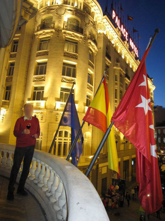 Balcony of Suite #217 Hotel NH Collection Madrid Paseo del Prado