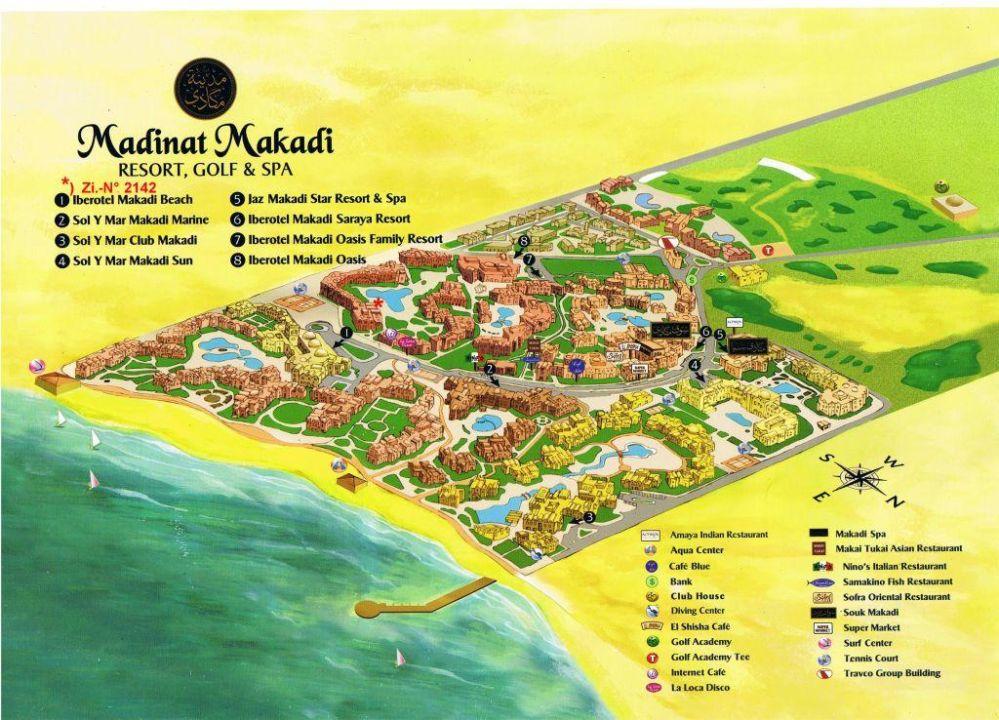 Makadi Bay Karte.Lageplan Madinat Makadi Jaz Makadi Oasis Club Resort Makadi Bay