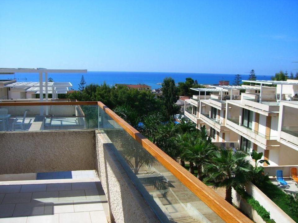 La terrazza dell'appartamento Hotel Kamena Residence