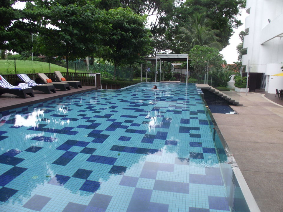 Pool Im Garten-glaswand Mit Sicht Zum Restaurant
