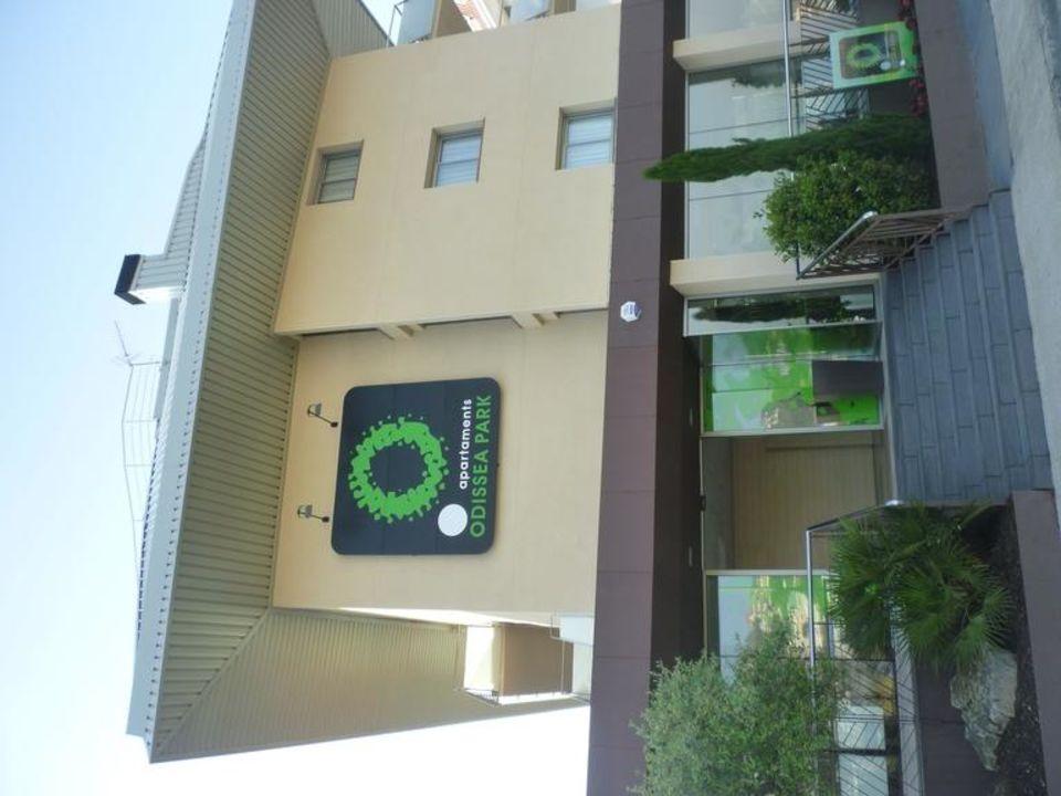 Blick von der Rückseite Aparthotel Odissea Park