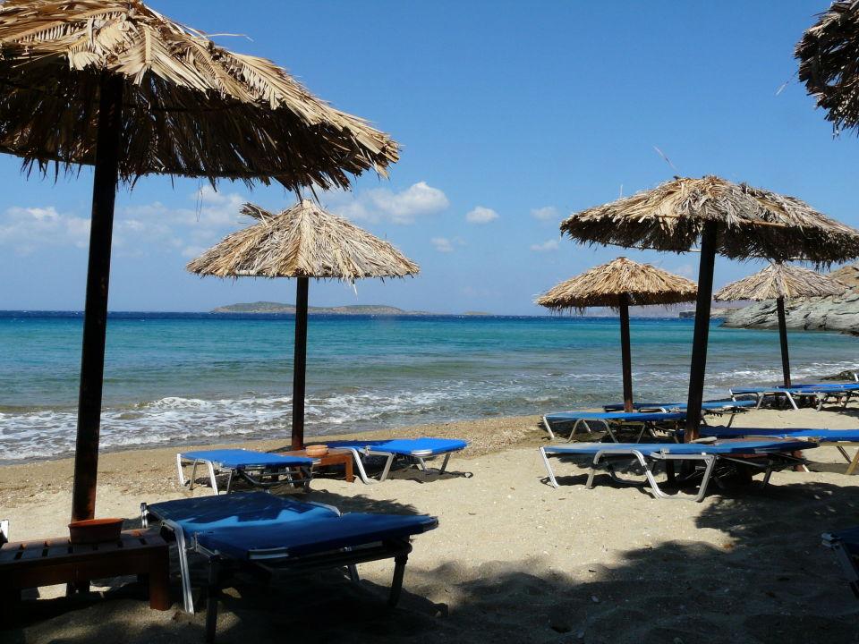 Der Hotelstrand Hotel Aneroussa Beach