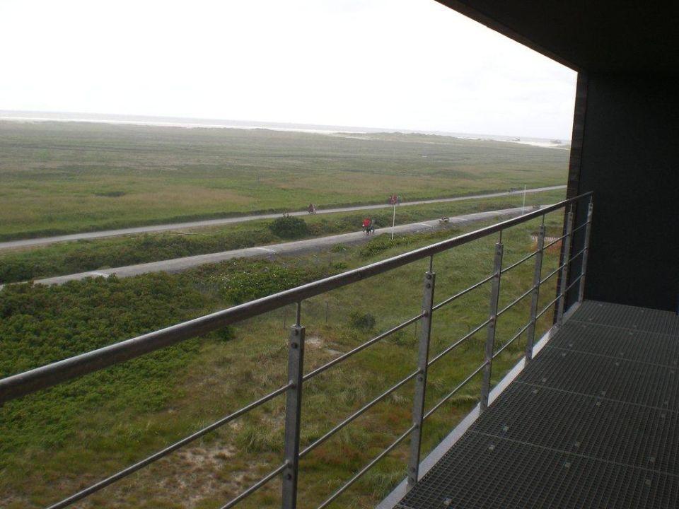 Blick aus dem Zimmer Richtung Deich Strandgut Resort