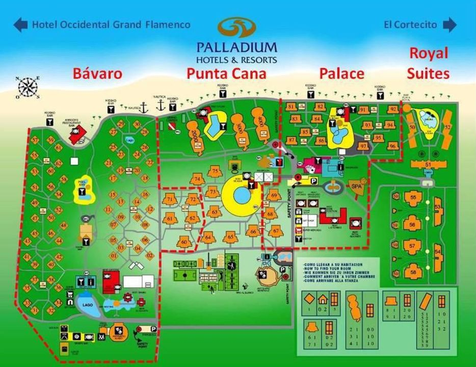 Grand Palladium Palace Resort Spa Casino Map