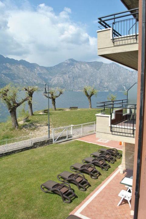 Blick vom Balkon Ambienthotel PrimaLuna