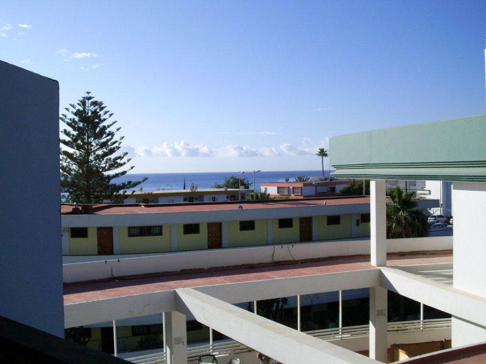 Blick vom Balkon 2. Stock Hotel Playa del Ingles (Vorgänger-Hotel – existiert nicht mehr)