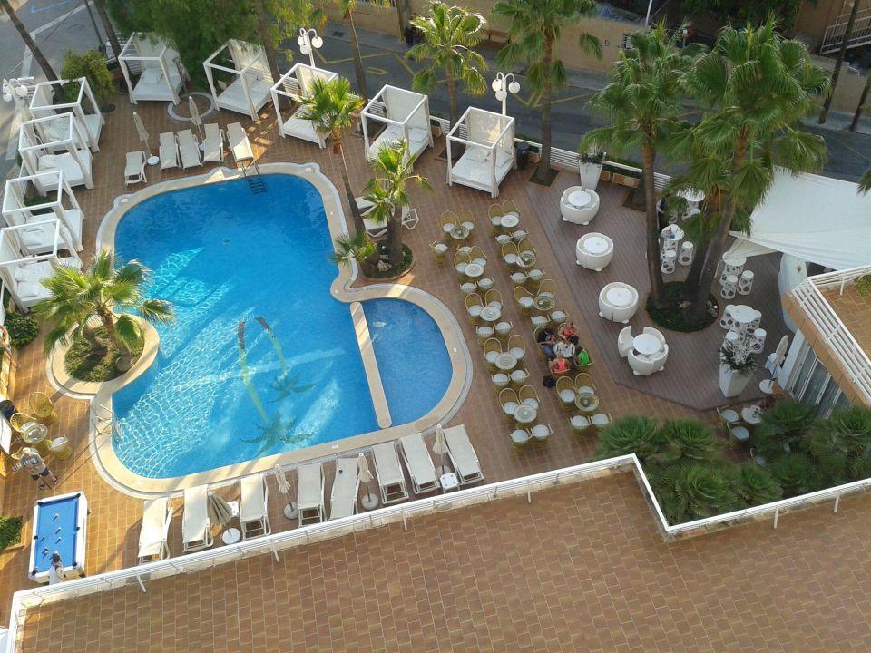 Bild balkonausblick zu allsun hotel palmira cormoran in for Garten pool 4m