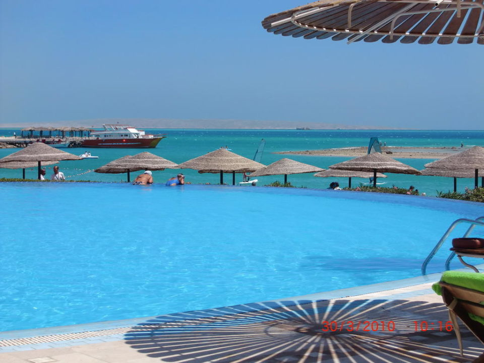 Blick vom Pool aufs Meer Jaz Casa del Mar Beach (Im Umbau / Renovierung)