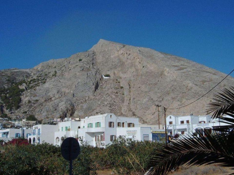 Kamari, Blick aus dem Hotel Afroditi Venus Beach Hotel & Spa