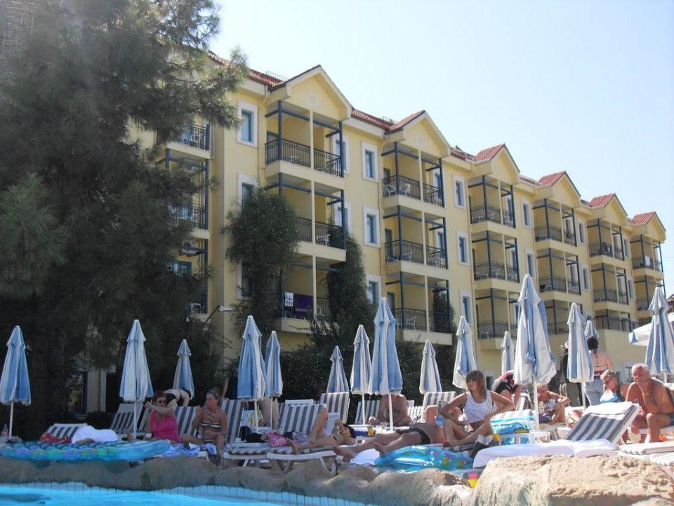 Hauptgebäude, Aufnahme vom oberen Pool Dosi Hotel