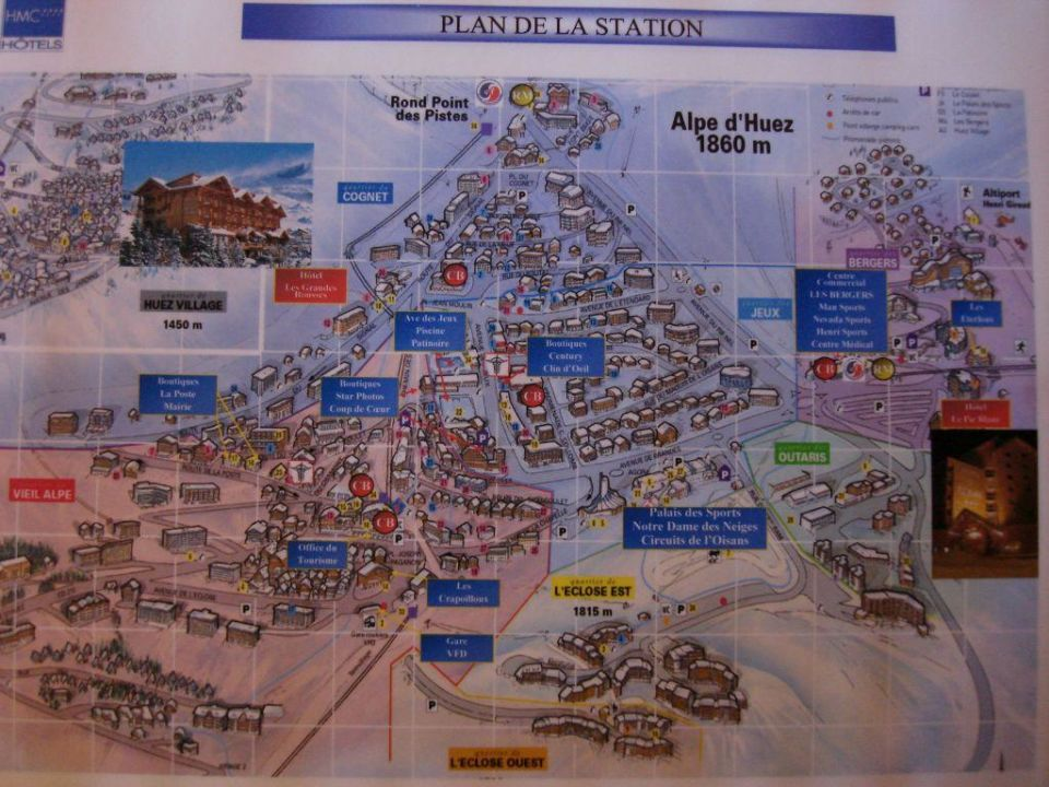 Plan miasta Hotel Du Pic Blanc