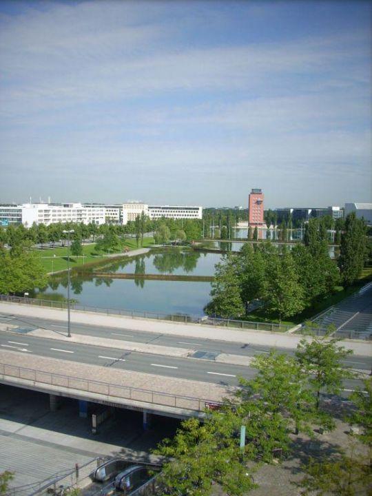 Toller Ausblick  Hotel Novotel München Messe