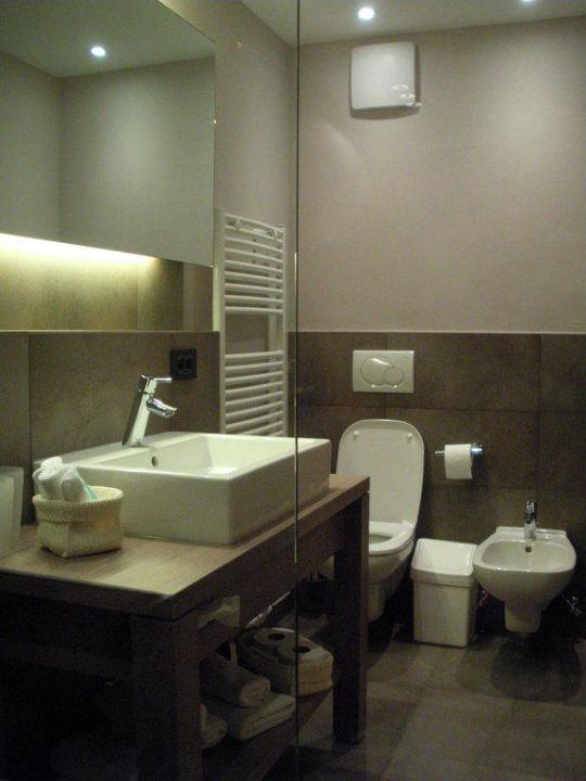 Blick vom Zimmer ins Bad Garni-Hotel Minigolf
