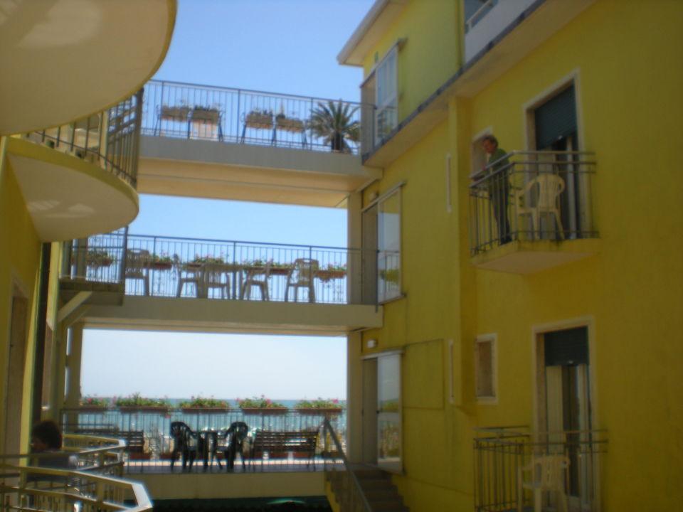 Innenhof Hotel Miramare