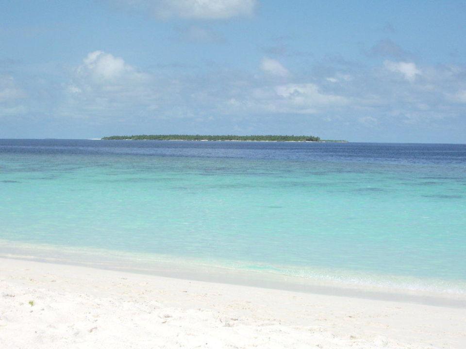 Aussicht zur nächsten Insel Adaaran Select Meedhupparu Island Resort