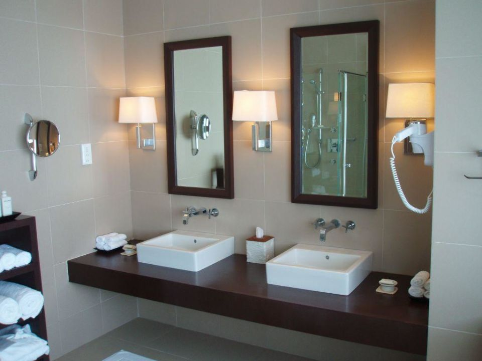 2 Waschbecken Im Bad Hotel Adaaran Prestige Water Villas Meedhupparu