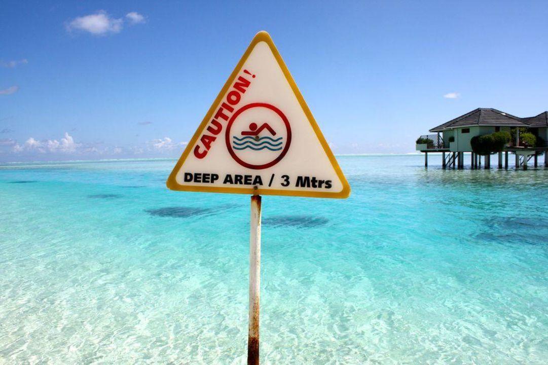 3 Meter sind hier schon richtig tief Sun Island Resort & Spa