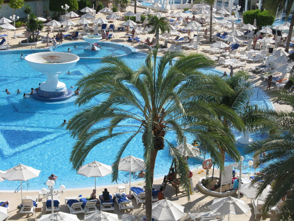 blick v balkon auf den pool mediterranean palace hotel. Black Bedroom Furniture Sets. Home Design Ideas