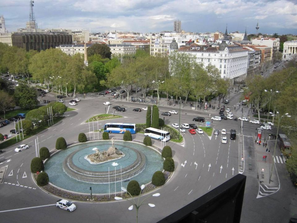 View from the gym Hotel NH Collection Madrid Paseo del Prado