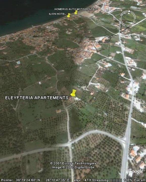 Air photo eleutheria app. petra lesvos greece Eleutheria Apartment
