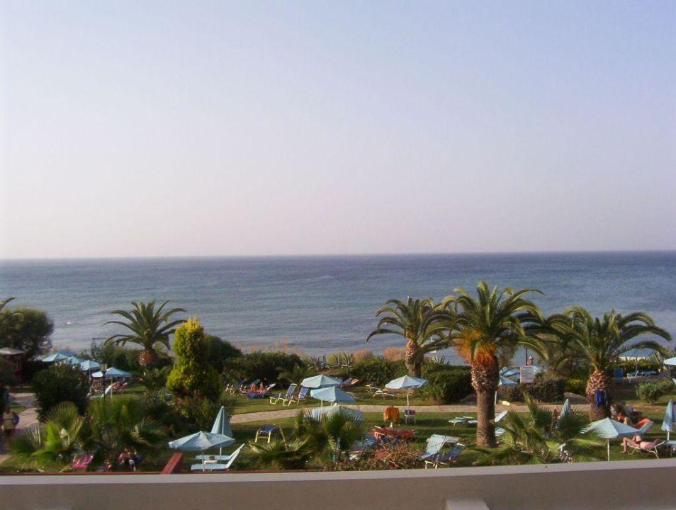 Sicht vom Balkon Hotel Creta Star