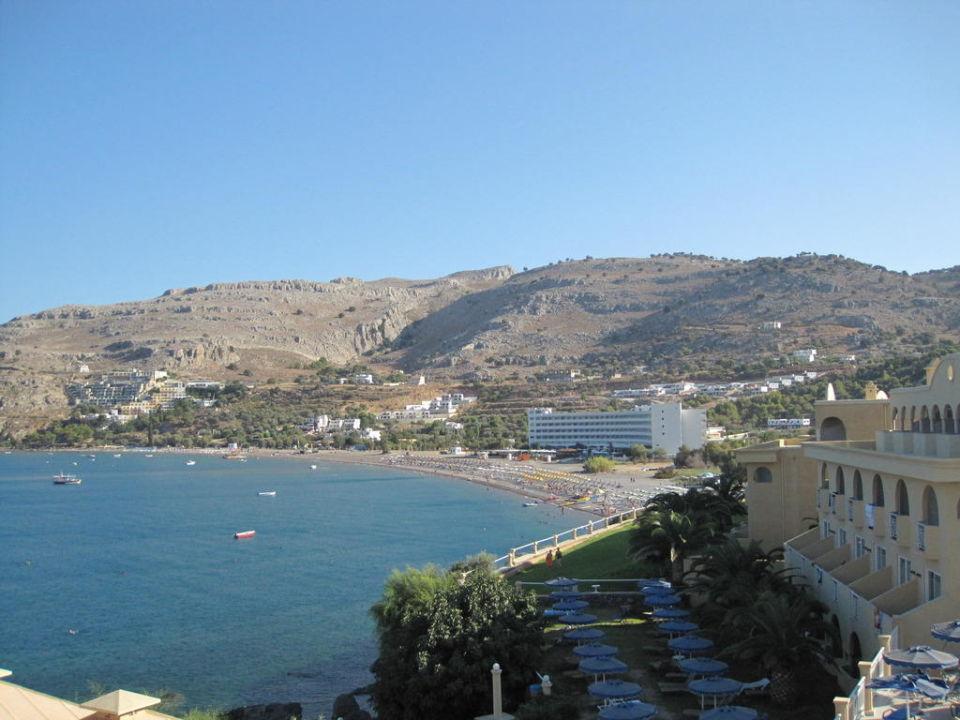 Вид с балкона Lindos Royal Resort