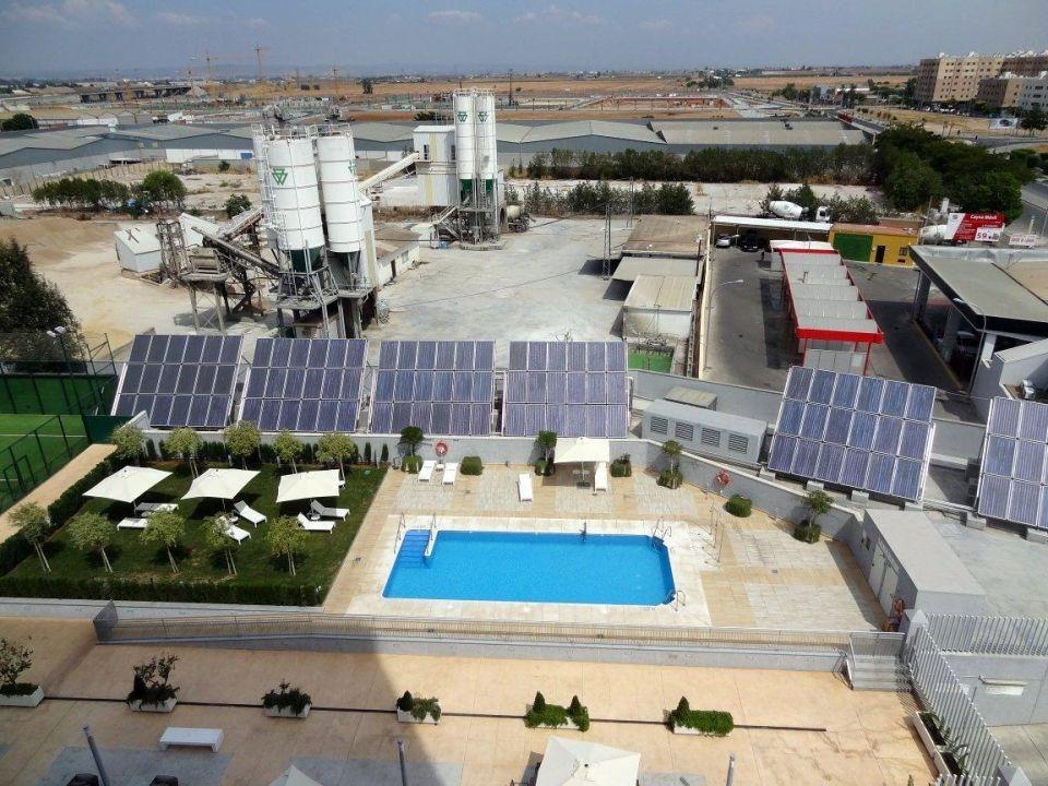 Pool view from the room Hilton Garden Inn Sevilla