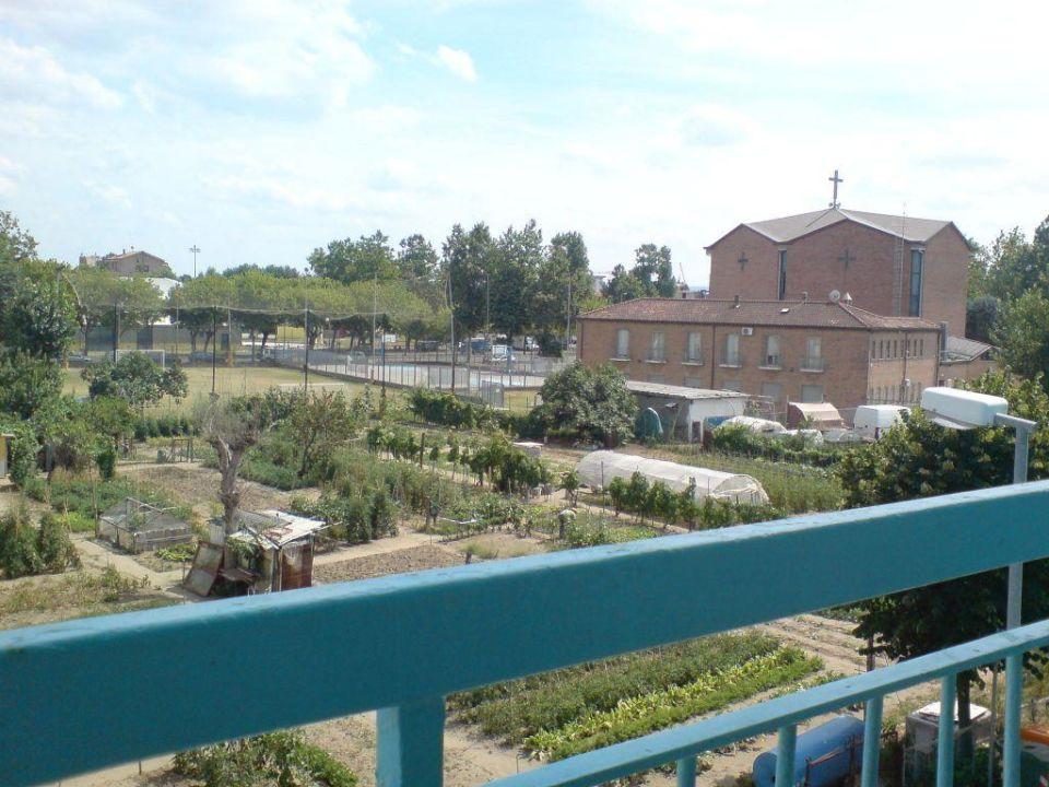 Ausblick vom Balkon Hotel Savina