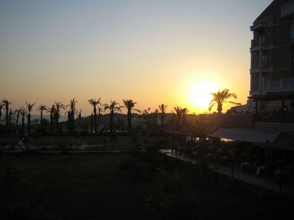 Sonnenuntergang im Hotel Trendy Aspendos Beach Hotel